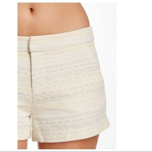 NWT Joie Merci Jacquard Cream Shorts 0